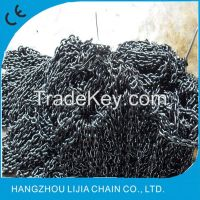 G80 high quality black finished alloy short link chain