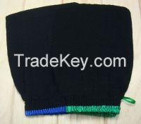 2015 hot sell  black hammam scrub mitt, magic peeling glove, exfoliating