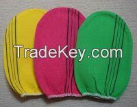 italy towel korea glove viscose scrub mitt body scrub glove kessa mitt