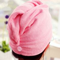 Hot selling household microfiber hair fast dry towel turban