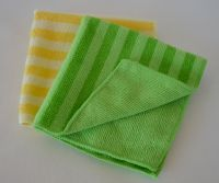 Double Colors Stripes Microfiber Wash Clean Care Cloth Towel