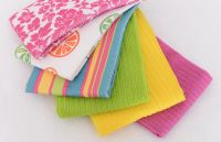 Microfiber lean Wash Care Cloth Towel Wipe Printed & Plain Matching Set