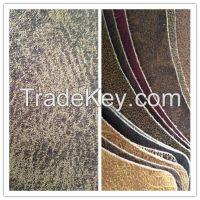 New Anti-abrasive nonwoven backing regenerated leather Fabric