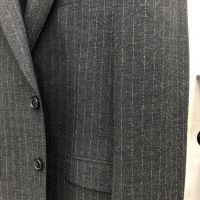 Stripe design printed TR suiting fabric