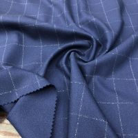 Check design suiting fabric