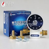 Household automatic timer safety gas shut off valve