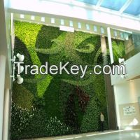 real look and touch artificial green art plant wall wholesale
