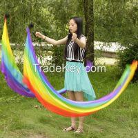 Belly Dance silk veil poi ball set real silk pois veils many color