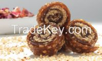 Dried Fruit Pulp Wrapped with Honey and Hazelnut