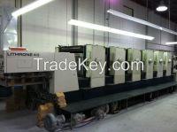 Used Heidelberg SM 102 V , MOV-H  sheet fed offset printing machine