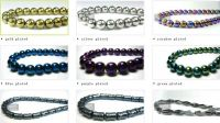 Magnetic beads with plated color
