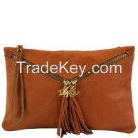 """ON SALE'' - Genuine Leather clutch Handbag Wristlets"