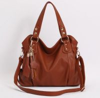 SELL PU Leather Top handle Shoulder Bag with Genuine Leather Tassel