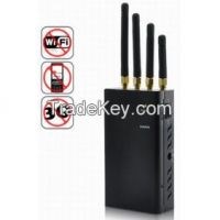High Power Portable Signal Jammer for WiFi 3G and 2G Mobile Phone
