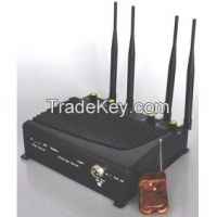Adjustable Cell Phone and Wifi Jammer with Four Bands