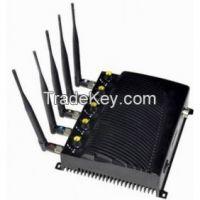Adjustable Desktop Five Bands Signal Jammer for Cell Phone GPS Wifi