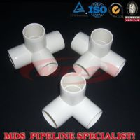 sell PVC pipe fittings pvc tee/elbow/valve/coupling/cross/four way