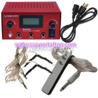 PRO Machine LCD Digital Tattoo Power Supply Clip Cord Foot Pedal