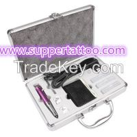 Super Hight Permanent Eyebrow Make Up Kits one Machine Needles and power supplies
