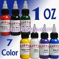 Tattoo Inks Pigment Kit 7 Beautiful colours Each Bottle 30ml 7OZ Total for Tips Supply