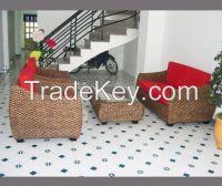 rattan hyacinth sofa