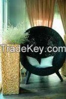 Rattan and Hyacinth egg chairs