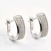 Wholesale Sterling Silver Micro Pave Earrings