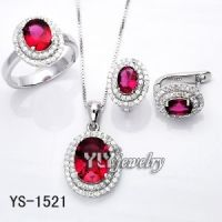 Colored CZ Jewelry Set Hot Sale
