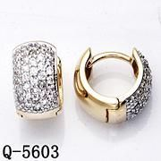 Sterling Silver Gold Plated Earrings Hot Sale