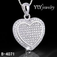 Hot Sale Micro Pave Sterling Silver Pendant