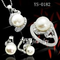 Sterling Silver Pearl Jewelry Set Wholesale