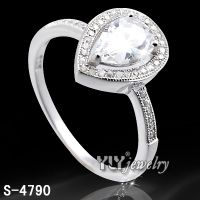 Fashion 925 Silver CZ Ring for Woman (S-4790)