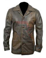 Wholesale custom fashion men leather jacket