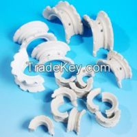 size 38mm, 50mm, 75mm ceramic super intalox saddleused in the packing towers in petroleum Industry