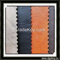 flame-retardant embossed pu  sofa microfiber leather
