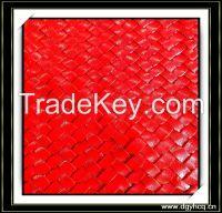 0.8mm thick snake grain microfiber leather strip for handmade braided carpet