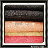 durable 1.0mm-1.5mm microfiber suede leather for shoe
