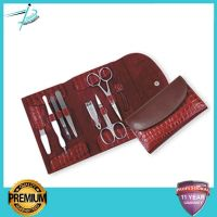 Manicure & Pedicure Beauty Implements Tool Set / Kit WITH LEATHER ZIPPER  CASE Top quality manufacturer  Sialkot Brand Logo printed Pissco Pakistan