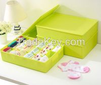 Colored plastic sundries storage box for socks and underwear