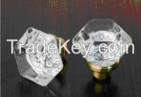 Door knobs, Crystal glass knobs,