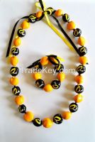 Custom Printed Kukui Nut and Wooden Beads