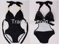 2015 ladies swimwear dress sexy women swimsuit one piece black and white M L XL XLL