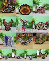 13 pcs lot cool fashion eagle embroidered iron clothes patch stickers for motorcycle biker