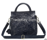 2015 easy carry, popular style leather handbags, various colors, beautiful