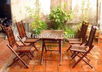 Luxury Bamboo Dining Set 9-99 USD/Unit