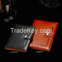 A4/A5 wholesale planner organizer journal executive diary 2015, black/orange executive leather diary 2015