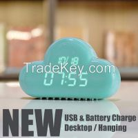 new trend product dual use USB rechargeable specialized desktop clock digital alarm clock