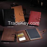 Business loose leaf leather planner executive agenda
