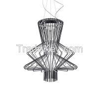 Fashionable aluminum shade GU10 big pendant lamp design