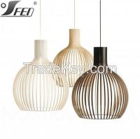 Natural contemporary CE and UL hanging wood lighting